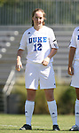 30 September 2007: Duke's Kendall Bradley. The Duke University Blue Devils defeated the Virginia Tech University Hokies 1-0 in sudden death overtime at Koskinen Stadium in Durham, North Carolina in an Atlantic Coast Conference NCAA Division I Women's Soccer game.