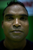Manoj, one of the member of the Indian Kabbadi team poses for a portrait at a month long camp in Sport Authority of India Sports Complex in Bisankhedi, outskirts of Bhopal, Madhya Pradesh, India.