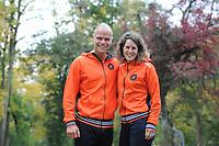 SCHAATSEN: YSBRECHTUM, 23-10-2015,  Team4Gold perspresentatie, Koen Verweij, Ireen Wüst, ©foto Martin de Jong