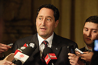 February 20, 2013  File Photo - Montreal, Quebec, CANADA -  Michael Applebaum,  Montreal Mayor adress  the media at City hall.