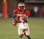 Lafayette High's Brandon Mack (4) returns a punt vs. Lewisburg in Homecoming football action in Oxford, Miss. on Friday, September 30, 2011. Lafayette High won 42-0 for the team's 23rd straight win.