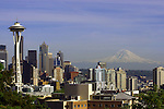 Seattle Space Needle and Mt. Rainier.  ©2014. Jim Bryant Photo. All Rights Reserved.Seattle Space Needle and Mt. Rainier.  ©2014. Jim Bryant Photo. All Rights Reserved.