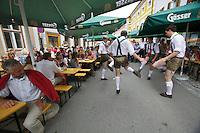 "Kärntnernudelfest (Carinthian Dumplings Festival) in Oberdrauburg 2011. Shoe plattlers ""Hochstadlbuam""."