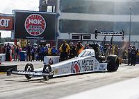 Sep 18, 2016; Concord, NC, USA; NHRA top fuel driver Antron Brown during the Carolina Nationals at zMax Dragway. Mandatory Credit: Mark J. Rebilas-USA TODAY Sports