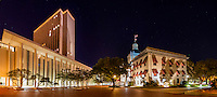 TALLAHASSEE, FLA. 4/8/16-The Florida Capitol Complex features the Florida Capitol, left, and the Historic Capitol buildings. <br /> <br /> EDITOR'S NOTE: This image is comprised of multiple photos taken at the same moment and stitched together in photoshop to create a panorama.<br /> <br /> COLIN HACKLEY PHOTO
