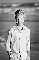 13 June 2013:  Brian, Cheryl, Reid (12) and Clay (9) Powell family photo session in Huntington Beach, CA.