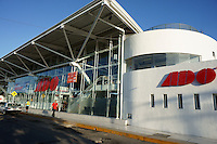 The Cancun  bus station at Avenida Tulum and Avenida Uxmal in downtown Cancun< Quintana Roo, Mexico .