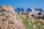 Rocky peaks of the beartooth mountains in montana
