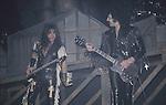 Tony Iommi & Dave Spitz of Black Sabbath at the New Haven Coliseum April 1986.