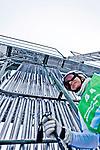 Challenge Mer et Montagne 2012, Saint Gervais les Bains, Mont Blanc, Haute Savoie, France..Ski Super Geant..Claire Bernier.