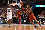 MILWAUKEE, WI - MARCH 18: Iowa State Cyclones guard Monte Morris (11) makes a pass on the run during the second half of the 2017 NCAA Men's Basketball Tournament held at BMO Harris Bradley Center on March 18, 2017 in Milwaukee, Wisconsin. (Photo by Jamie Schwaberow/NCAA Photos via Getty Images)