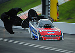 Jun. 18, 2011; Bristol, TN, USA: NHRA funny car driver Bob Tasca III during qualifying for the Thunder Valley Nationals at Bristol Dragway. Mandatory Credit: Mark J. Rebilas-