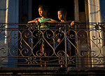cuban children portrait during golden hour