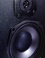 AUDIO SPEAKER DRIVER<br /> Produces Sound Waves By Vibrating A Flexible Cone<br /> The cone is attached to the voice coil, an electromagnet. The voice coil  interacts with a permanent magnet causing the cone to move back and forth. This movement vibrates the air in front of the speaker creating sound waves.