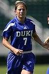 Darby Kroyer, of Duke, on Sunday October 2nd, 2005 at SAS Stadium in Cary, North Carolina. The Duke University Blue Devils defeated the North Carolina State University Wolfpack 1-0 during an Atlantic Coast Conference women's soccer game.