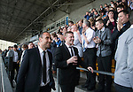St Johnstone Player of the Year Awards 2014-15.....16.05.15<br /> Lee Croft and Brian Easton walk out to applause from the supporters clubs.<br /> Picture by Graeme Hart.<br /> Copyright Perthshire Picture Agency<br /> Tel: 01738 623350  Mobile: 07990 594431