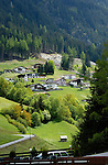 Homes in Alpine village, Wenns. Piller, Imst area, Tyrol, Austria.