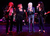 CLEVELAND - MAY 14:  (from left to right) Darlene Love, Mavis Staples; Cyndi Lauper; and Ronnie Spector perform during the Rock and Roll Hall of Fame 'It's Only Rock And Roll' benefit concert and Women Who Rock exhibit opening concert at the Cleveland Convention Center on Saturday May 14, 2011 in Cleveland, Ohio.  (Photo by Jared Wickerham/Jared Wickerham/Getty Images for Rock and Roll Hall of Fame and Museum)