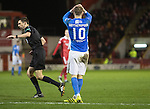 Aberdeen v St Johnstone&hellip;10.12.16     Pittodrie    SPFL<br />David Wotherspoon reacts after dragging his late shot wide<br />Picture by Graeme Hart.<br />Copyright Perthshire Picture Agency<br />Tel: 01738 623350  Mobile: 07990 594431