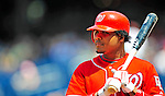 7 June 2009: Washington Nationals' infielder Anderson Hernandez in action against the New York Mets at Nationals Park in Washington, DC. The Mets shut out the Nationals 7-0 to take the third game of the weekend series. Mandatory Credit: Ed Wolfstein Photo
