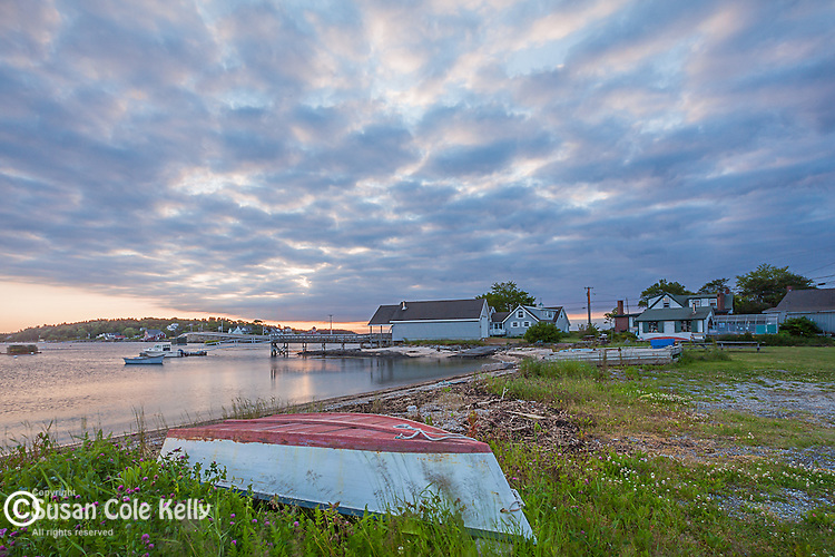 Sunrise on Bailey's Island in Harpswell, Maine, USA