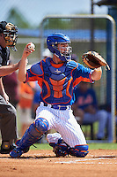New York Mets catcher Patrick Mazeika (11) during an Instructional League game against the Miami Marlins on September 29, 2016 at the Port St. Lucie Training Complex in Port St. Lucie, Florida.  (Mike Janes/Four Seam Images)