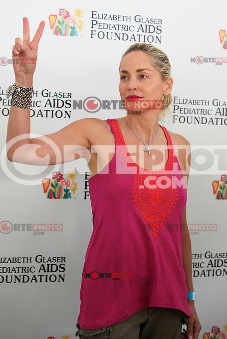 """Sharon Stone attending the 23rd Annual """"A Time for Heroes"""" Celebrity Picnic Benefitting the Elizabeth Glaser Pediatric AIDS Foundation. Los Angeles, California on 3.6.2012..Credit: Martin Smith/face to face /MediaPunch Inc. ***FOR USA ONLY***"""