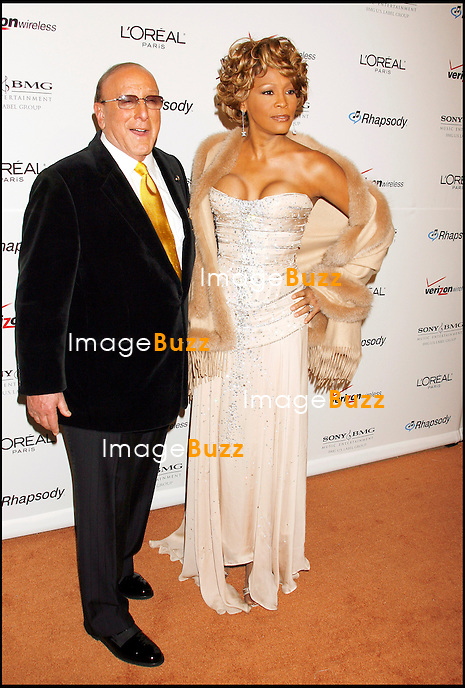 Whitney Houston & Clive Davis attend the 2007 Clive Davis Pre-Grammy Party in Los Angeles. February 10, 2007.