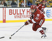 Conor Morrison (Harvard - 38) - The Northeastern University Huskies defeated the Harvard University Crimson 4-0 in their Beanpot opener on Monday, February 7, 2011, at TD Garden in Boston, Massachusetts.