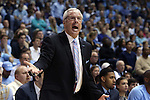 18 January 2015: UNC head coach Roy Williams. The University of North Carolina Tar Heels played the Virginia Tech University Hokies in an NCAA Division I Men's basketball game at the Dean E. Smith Center in Chapel Hill, North Carolina. UNC won the game 68-53.