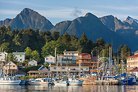 Sitka boat harbor, Sitka, Baranof Island, Southeast Alaska panhandle