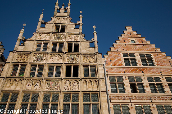 Typical Facades, Ghent, Belgium, Europe