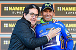 Nairo Quintana (COL) Movistar Team wins Stage 4 and takes over the race leaders Maglia Azzura of the 2017 Tirreno Adriatico running 187km from Montalto di Castro to Terminillo, Italy. 11th March 2017.<br /> Picture: La Presse/Fabio Ferrari  | Cyclefile<br /> <br /> <br /> All photos usage must carry mandatory copyright credit (&copy; Cyclefile | La Presse)