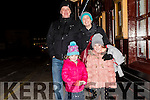 Joe, Michelle, Ana and Claire Buckley (Cloghane) enjoying the New Year celebrations in Dingle.