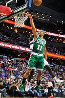 Celtics' Courtney Lee has his shot blocked by Wizards' Emeka Okafor. Boston defeated Washington 89-86 at the Verizon Center in Washington, D.C. on Saturday, November 3, 2012.  Alan P. Santos/DC Sports Box