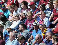 The travelling Burnley fans look on during the game <br /> <br /> Photographer Ian Cook/CameraSport<br /> <br /> The Premier League - Bournemouth v Burnley - Saturday 13th May 2017 - Vitality Stadium - Bournemouth<br /> <br /> World Copyright &copy; 2017 CameraSport. All rights reserved. 43 Linden Ave. Countesthorpe. Leicester. England. LE8 5PG - Tel: +44 (0) 116 277 4147 - admin@camerasport.com - www.camerasport.com