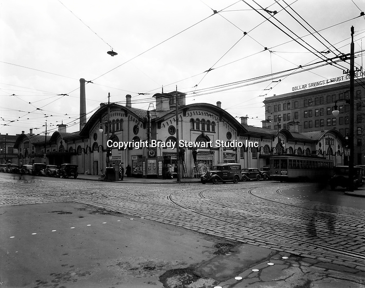 Pittsburgh PA: The North Side Market House was located at Ohio and Federal streets. Fresh fruits, vegatables, breads and meats were available for wholesale and retail customers.  There was a sister Market House across town in East Liberty - 1936.  The Market House was razed in 1965 to make room for the new office and mall complex, Allegheny Center.