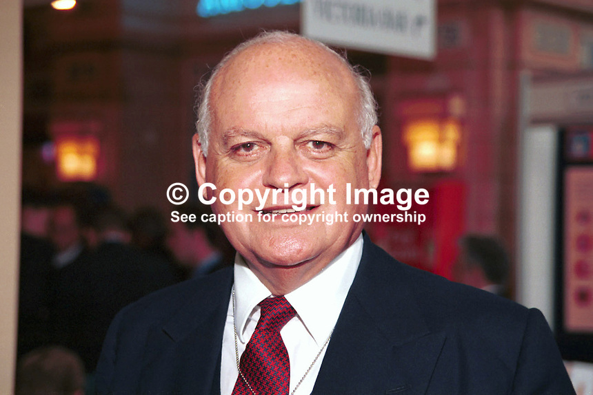 Sir Peter Tapsell, Conservative Party, MP, Britain, UK, 199710210..Taken at Conservative Conference in Winter Garden, Blackpool..Copyright Image from Victor Patterson, 54 Dorchester Park, Belfast, UK, BT9 6RJ..Tel: +44 28 9066 1296.Mob: +44 7802 353836.Voicemail +44 20 8816 7153.Skype: victorpattersonbelfast.Email: victorpatterson@mac.com.Email: victorpatterson@ireland.com (back-up)..IMPORTANT: If you wish to use this image or any other of my images please go to www.victorpatterson.com and click on the Terms & Conditions. Then contact me by email or phone with the reference number(s) of the image(s) concerned.