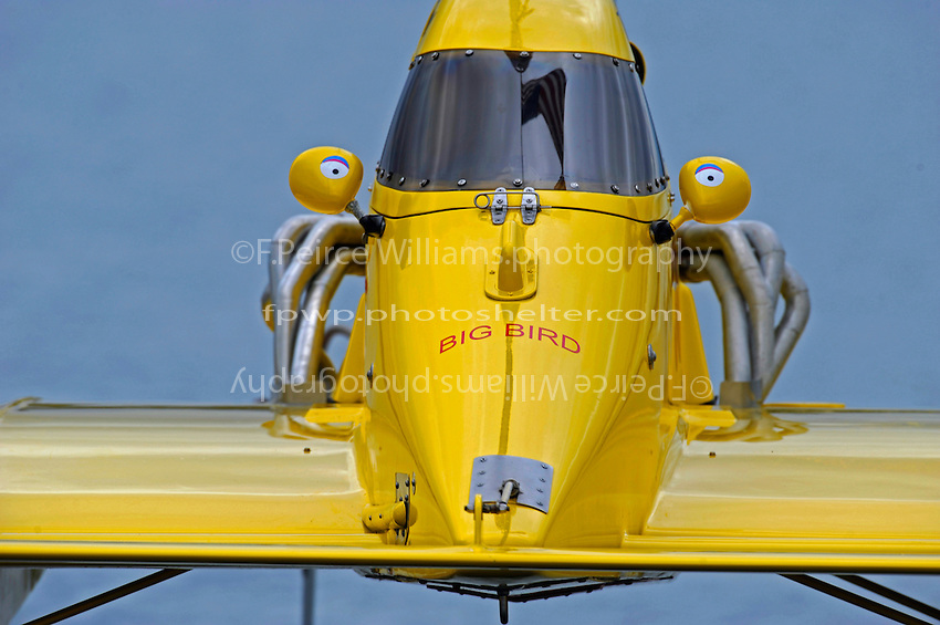 "NM-30 ""Pennzoil Big Bird"" is lowered to the water.  (National Mod hydroplane(s)"