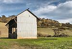 Corrugatted barn, Lake Berryessa, Calif.