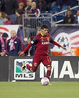 Real Salt Lake midfielder Javier Morales (11) at midfield. Real Salt Lake defeated the New England Revolution, 2-1, at Gillette Stadium on October 2, 2010.3