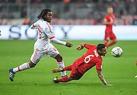 FUSSBALL CHAMPIONS LEAGUE  SAISON 2015/2016 VIERTELFINALE HINSPIEL FC Bayern Muenchen - Benfica Lissabon         05.04.2016 Renato Sanches (li, Benfica Lissabon) gegen Thiago Alcantara (re, FC Bayern Muenchen)