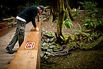 Dennis Carver pauses to study Redwood Creek in Muir Woods National Monument, January 26, 2011.