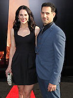 """HOLLYWOOD, LOS ANGELES, CA, USA - MAY 08: Kyra Zagorsky, Patrick Sabongui at the Los Angeles Premiere Of Warner Bros. Pictures And Legendary Pictures' """"Godzilla"""" held at Dolby Theatre on May 8, 2014 in Hollywood, Los Angeles, California, United States. (Photo by Xavier Collin/Celebrity Monitor)"""