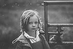 Female child with sad expression