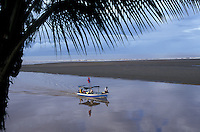 Fishing launch near the town of Quepos on the Pacific coast of Costa Rica