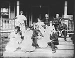 Frederick Stone negative. Beach's group, sup't of Naugatuck RR, family reunion 1892.