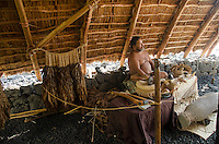 A Hawaiian man speaking about native Hawaiian practices at Pu'uhonua o Honaunau (City of Refuge), South Kona, Big Island.
