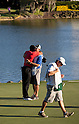 Tiger Woods (USA),.MARCH 25, 2012 - Golf :.Tiger Woods of United States embraces his caddie Joe LaCava after winning the final round of the Arnold Palmer Invitational at Arnold Palmer's Bay Hill Club and Lodge in Orlando, Florida. (Photo by Thomas Anderson/AFLO)(JAPANESE NEWSPAPER OUT)