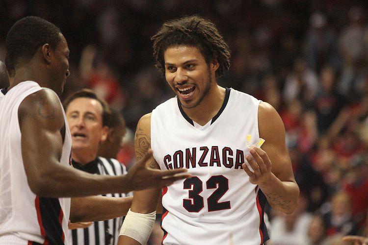 LAS VEGAS, NV - MARCH 7:  Steven Gray during the Gonzaga Bulldogs 77-62 win over Loyola Marymount in the WCC Basketball Tournament on March 7, 2010 at Orleans Arena in Las Vegas Nevada.